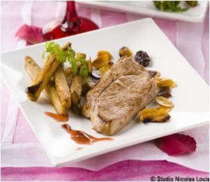 Steak d'agneau aux amandes ey aubergines2